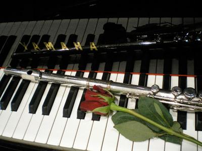 Piano - flute - rose